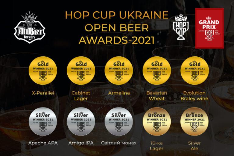 Наше пиво знову визнали найкращим в Україні! +10 нагород в скарбничку AltBier Brewery! - hop cup2021